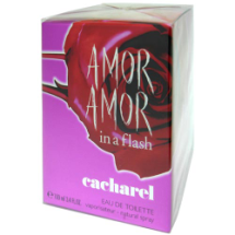 "Agua de tocador AMOR AMOR in a flash, ""cacharel"""