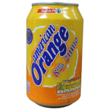 33 cl-Refresco american orange