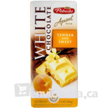 100 g-Tableta de chocolate blanco con albaricoque