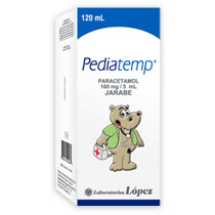 PEDIATEMP (ACETOMINOFEN) 160mg/5mg JARABE FRASCO X 120ml
