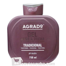 "750 ml-Gel de baño, ""AGRADO"""