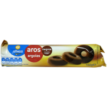 150 g-Galletas aro chocolate negro