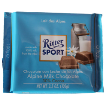 100 g-Tabletas de chocolate con leche