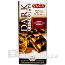 100 g-Tableta de chocolate negro con ron