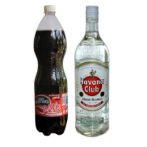750 ml-Ron añejo blanco + 1.5 L Refresco de cola