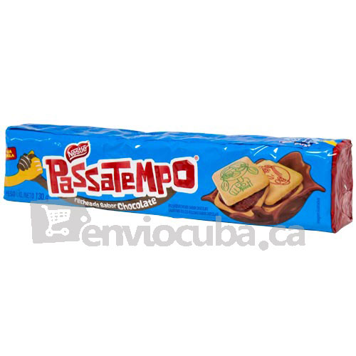 130 g-Galletas rellenas con chocolate